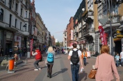 Walking in the city centre of Katowice