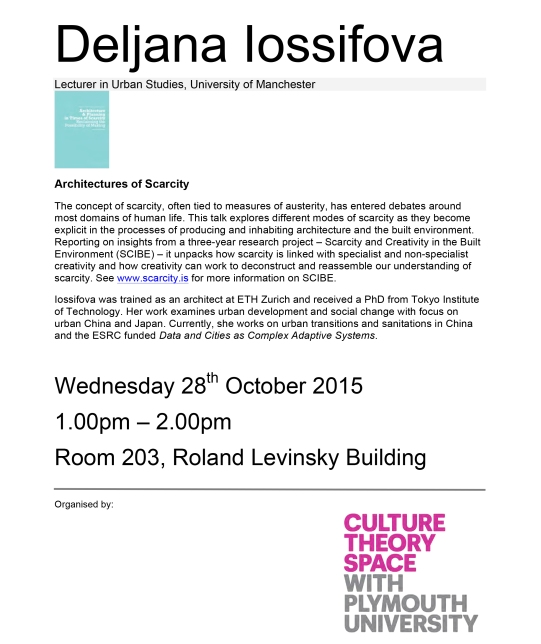 Architectures of Scarcity- Deljana Iossifova